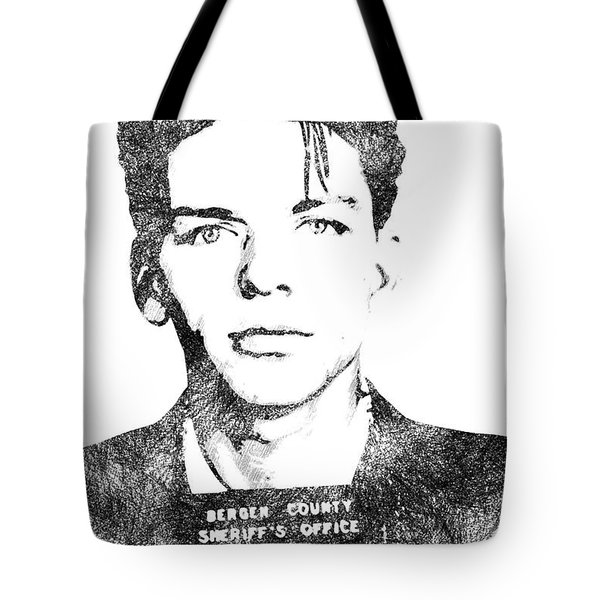 Frank Sinata Bw Portrait Tote Bag by Mihaela Pater