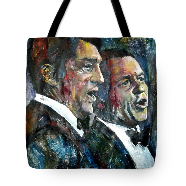 Frank Sinatra And Dean Martin Tote Bag