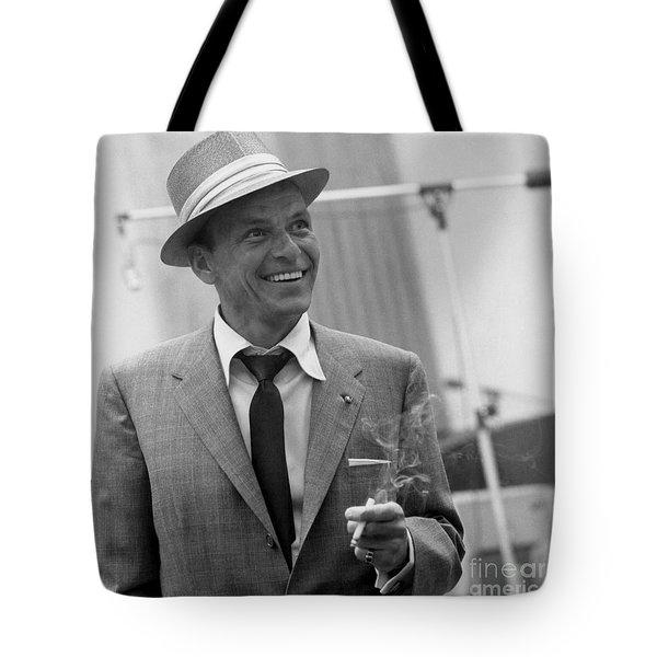Frank Sinatra - Capitol Records Recording Studio #3 Tote Bag by The Titanic Project