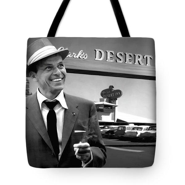 Frank Sinatra In Las Vegas Tote Bag