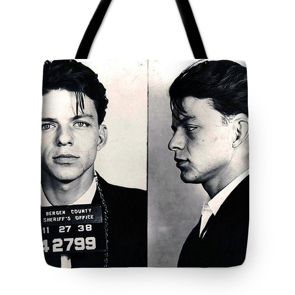 Frank Sinatra Mug Shot Horizontal Tote Bag by Tony Rubino