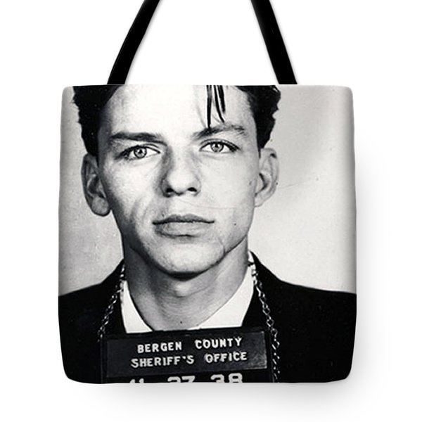 Frank Sinatra Mug Shot Vertical Tote Bag