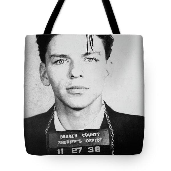 Frank Sinatra Mugshot Tote Bag by Jon Neidert