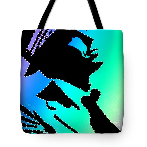 Frank Sinatra Over The Rainbow Tote Bag by Robert Margetts