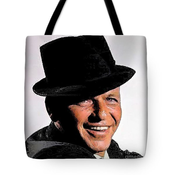 Frank Sinatra Tote Bag by Rod Jellison