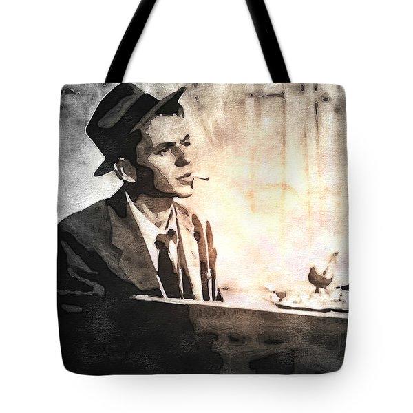 Frank Sinatra - Vintage Painting Tote Bag