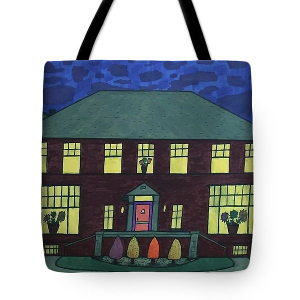 Frank Spies Home. Historical Menominee Art. Tote Bag