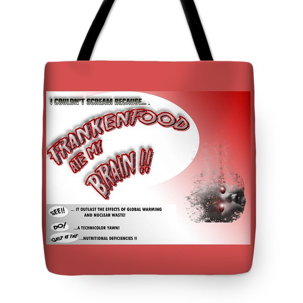 Tote Bag featuring the photograph Frankenfood by Christopher Woods