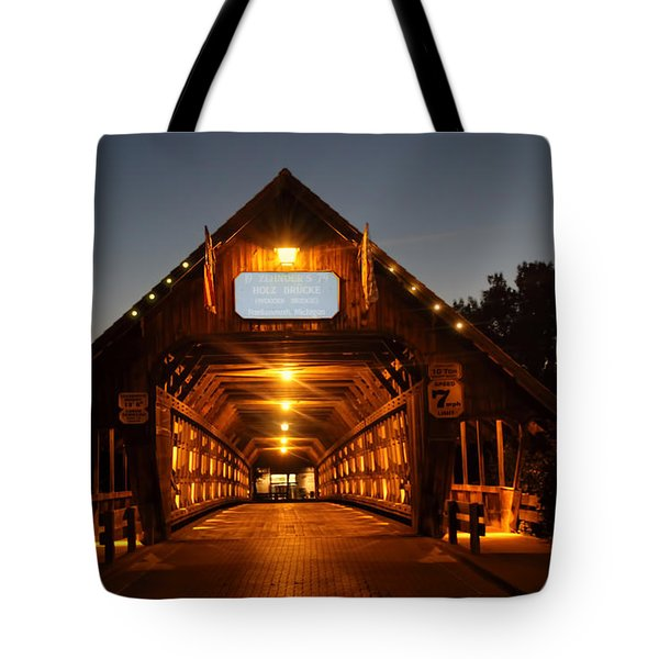 Frankenmuth Covered Bridge Tote Bag