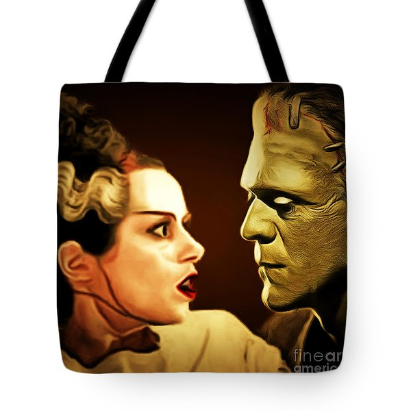 Frankenstein And The Bride I Have Love In Me The Likes Of Which You Can Scarcely Imagine 20170407 Sq Tote Bag
