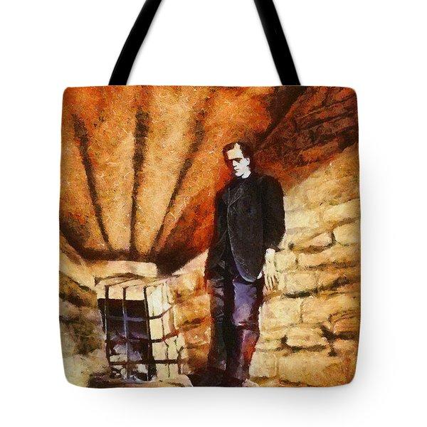 Frankenstein, Classic Vintage Horror Tote Bag