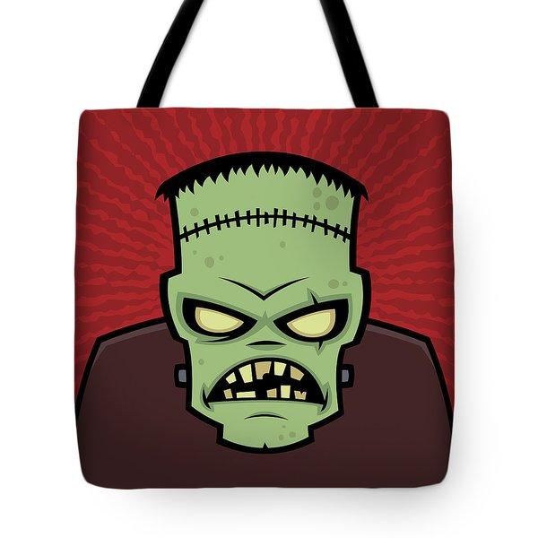 Frankenstein Monster Tote Bag by John Schwegel
