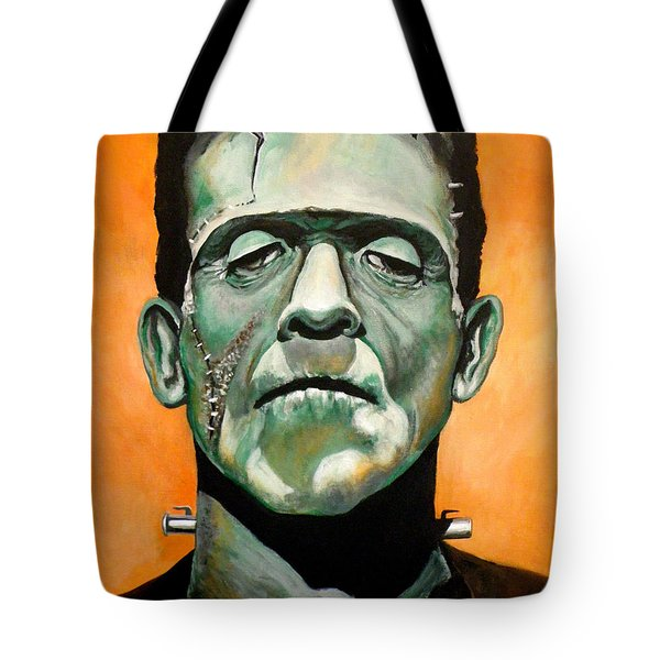 Frankenstein Tote Bag by Tom Carlton