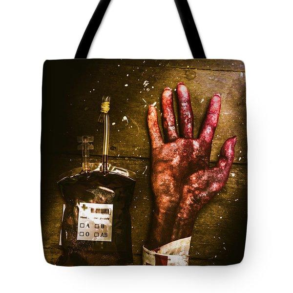 Frankenstein Transplant Experiment Tote Bag