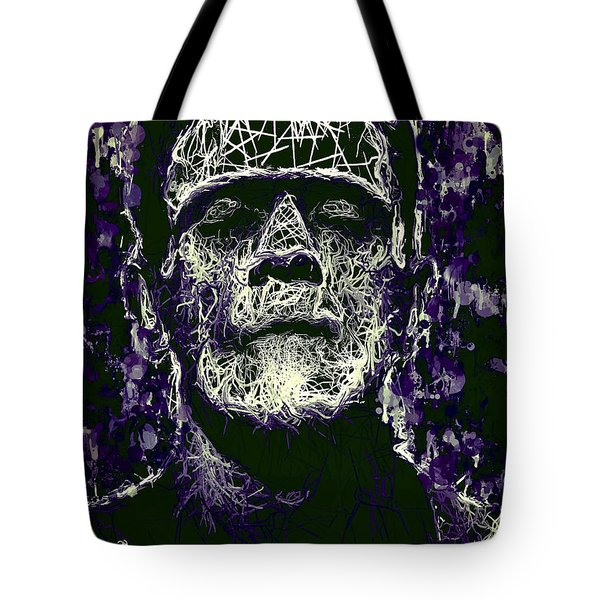 Tote Bag featuring the mixed media Frankenstein by Al Matra