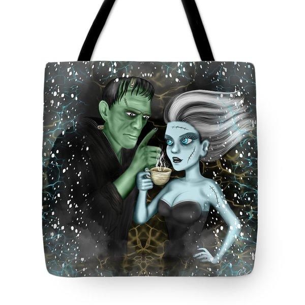 Frankenstien Fantasy Art Tote Bag