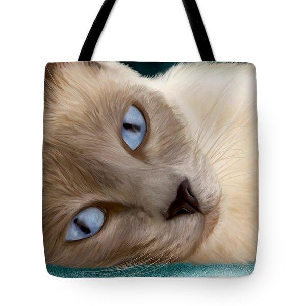 Frankie Blue Eyes Tote Bag
