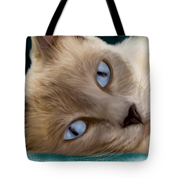 Frankie Blue Eyes Tote Bag