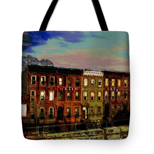 Franklin Ave. Bk Tote Bag by Iowan Stone-Flowers