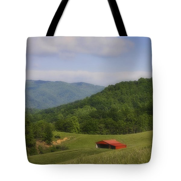 Franklin County Virginia Red Barn Tote Bag by Teresa Mucha