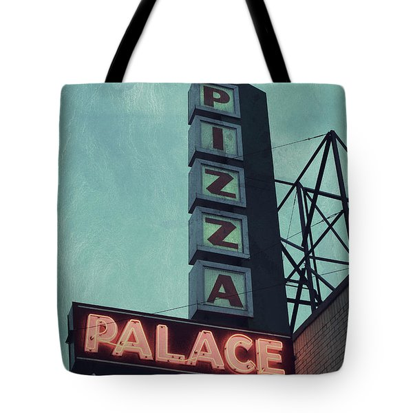 Tote Bag featuring the photograph Frank's Pizza Palace by Joel Witmeyer