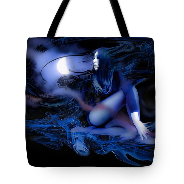 Tote Bag featuring the photograph Fran's Ecliptic Moon by Glenn Feron