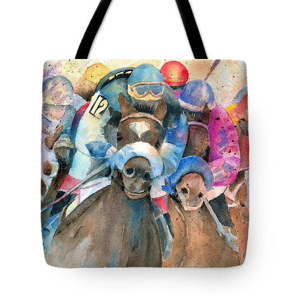 Frantic Finish Tote Bag by Arline Wagner