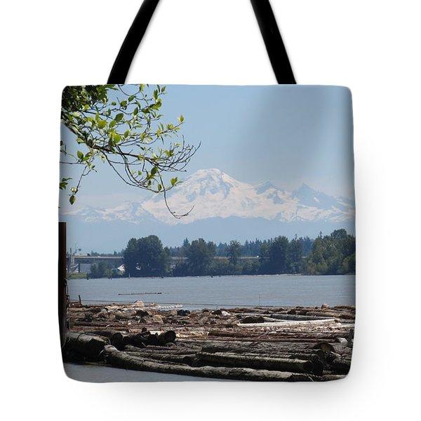 Fraser River And Mount Baker Tote Bag