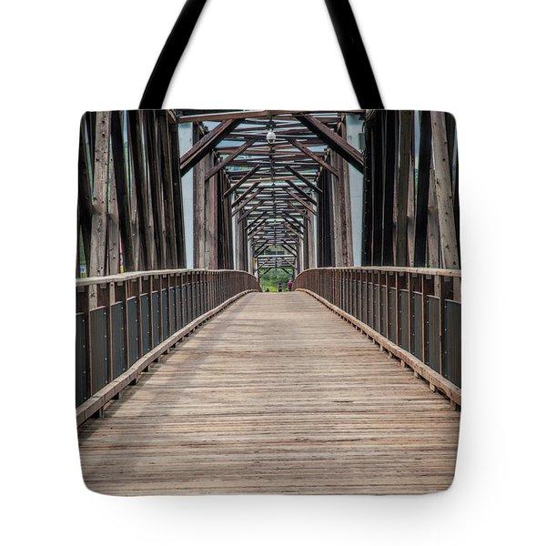 Fraser River Footbridge Tote Bag