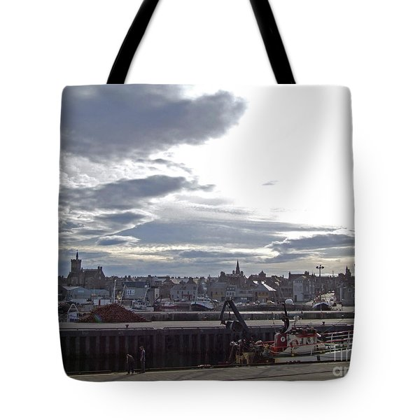 Fraserburgh Town From The Harbour Tote Bag