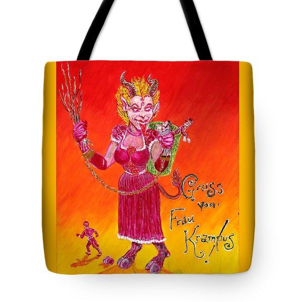 Frau Krampus Tote Bag