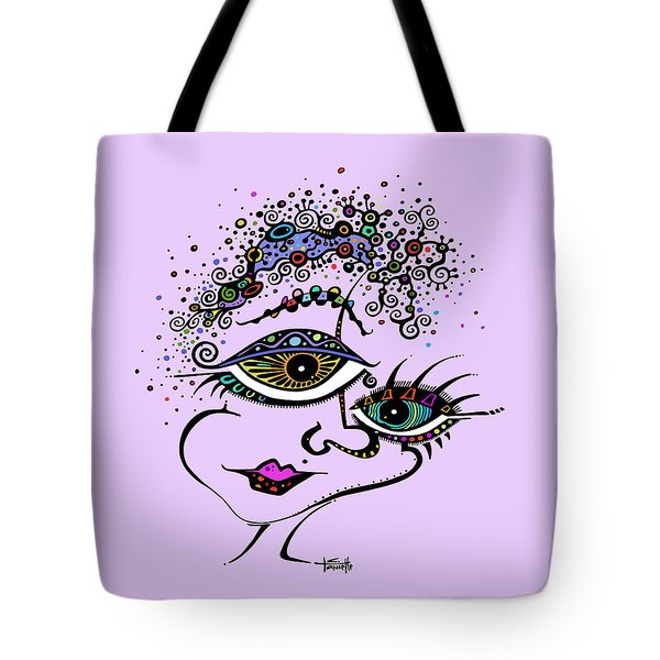 Tote Bag featuring the drawing Frazzled by Tanielle Childers