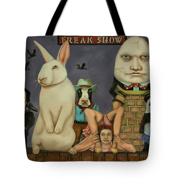 Freak Show Tote Bag by Leah Saulnier The Painting Maniac