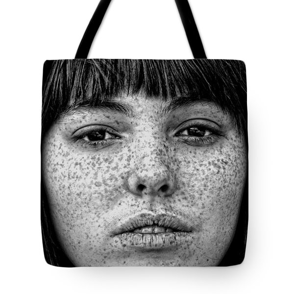 Freckle Face Closeup  Tote Bag by Jim Fitzpatrick