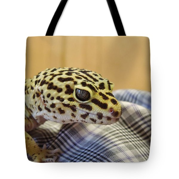 Freckles The Leopard Spotted Gecko Tote Bag