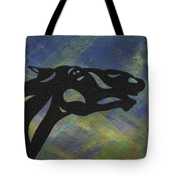 Fred - Abstract Horse Tote Bag