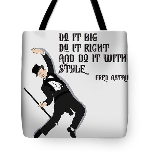 Fred Astair Tote Bag