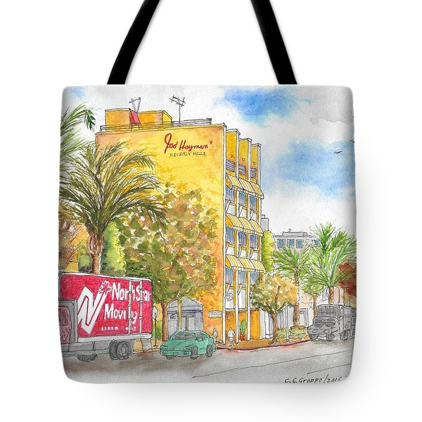 Fred Hayman Building, Cannon Dr And Clifton, Beverly Hills, Ca Tote Bag