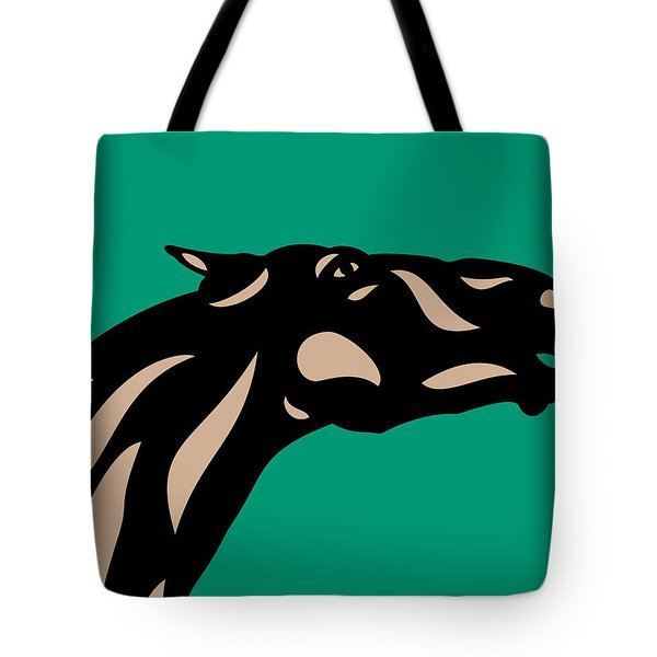 Fred - Pop Art Horse - Black, Hazelnut, Emerald Tote Bag