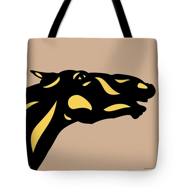 Fred - Pop Art Horse - Black, Primrose Yellow, Hazelnut Tote Bag