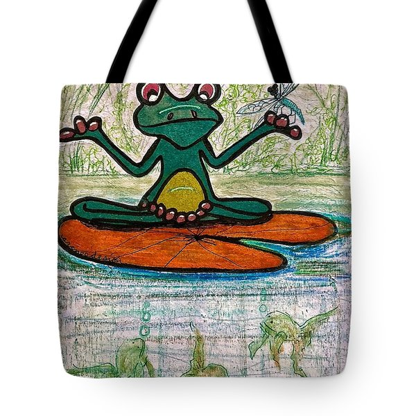 Fred The Frog With Friends Tote Bag