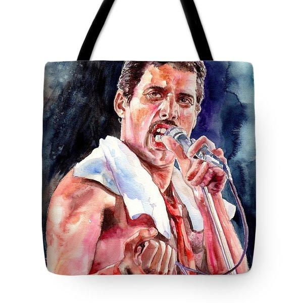 Freddie Mercury Singing Tote Bag