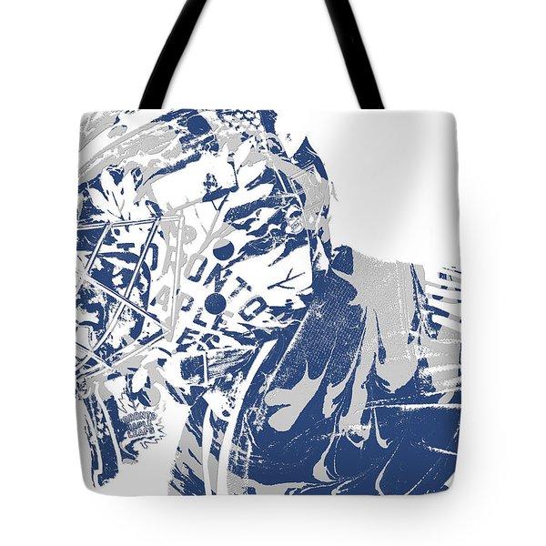 Frederik Andersen Toronto Maple Leafs Pixel Art 3 Tote Bag