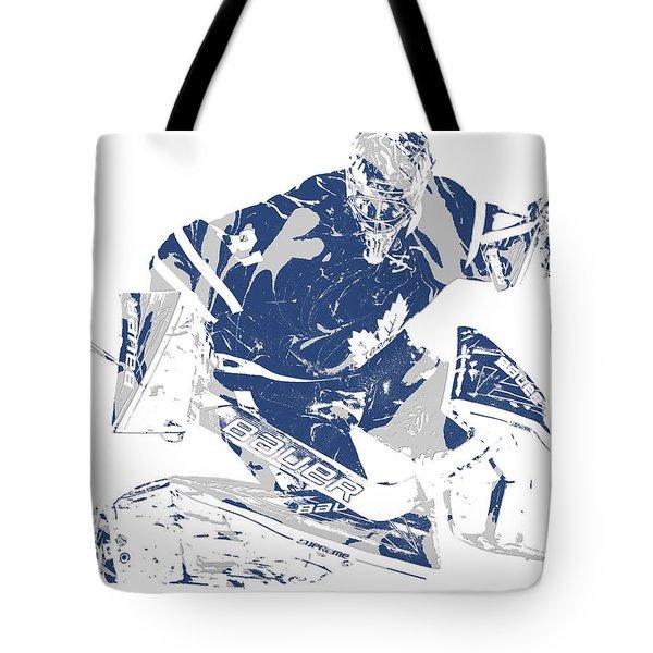 Frederik Andersen Toronto Maple Leafs Pixel Art 5 Tote Bag