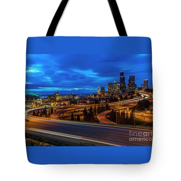 Freeway 5 North To Seattle Tote Bag