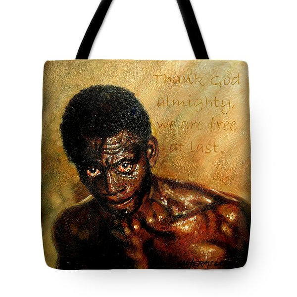 Free At Last Tote Bag by John Lautermilch