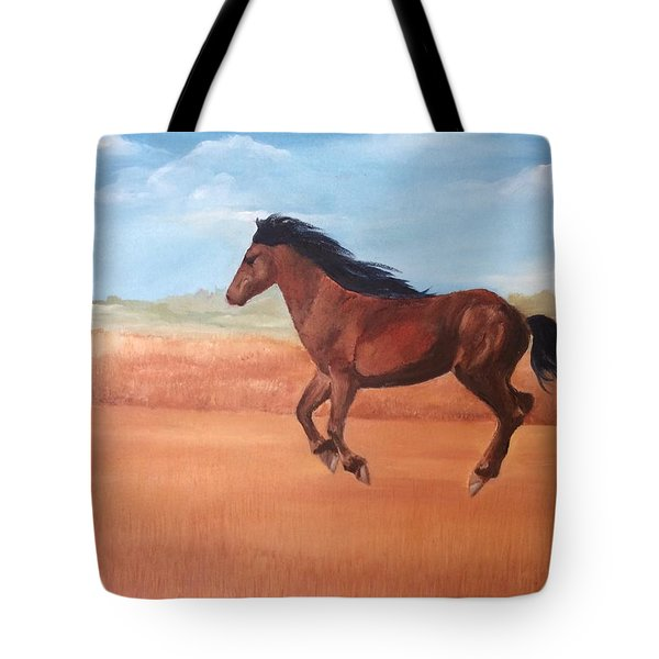 Tote Bag featuring the painting Free by Ellen Canfield
