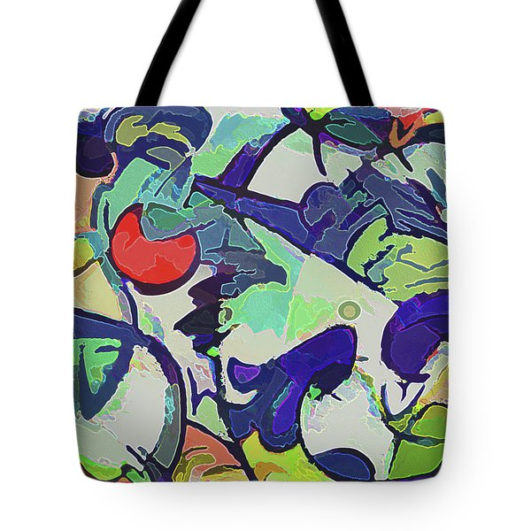 Tote Bag featuring the mixed media Free For All 2 by Lynda Lehmann