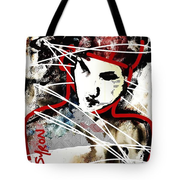 Tote Bag featuring the painting Free by Helen Syron