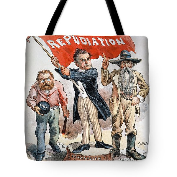 Free Silver Cartoon, 1896 Tote Bag by Granger